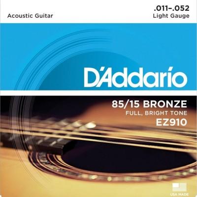 Detalhes do produto Encordoamento D'Addario Violão Aço EZ910 - 011